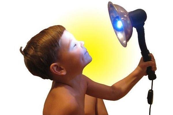 Синяя лампа для прогревания – применение в лечении, показания